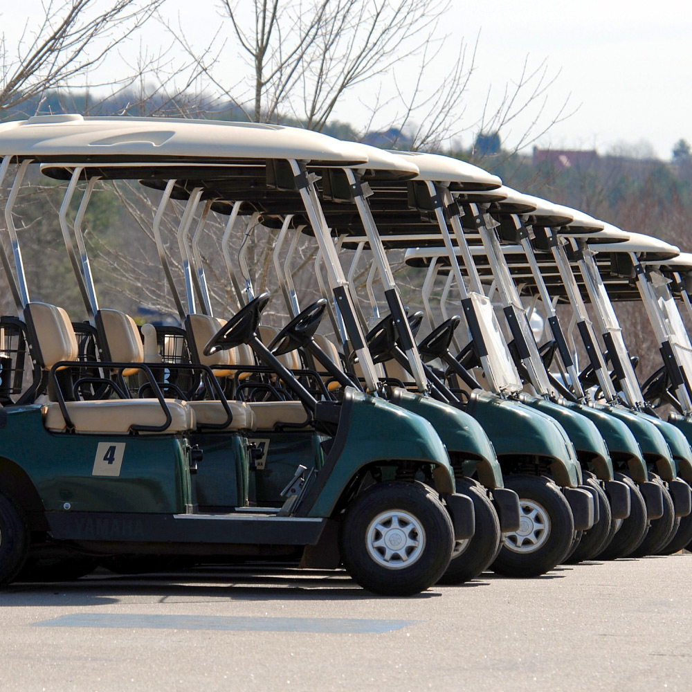 assets & equipment tracking of golf carts