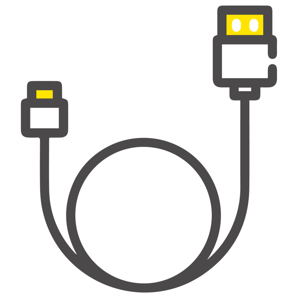 wired, plug & play icon