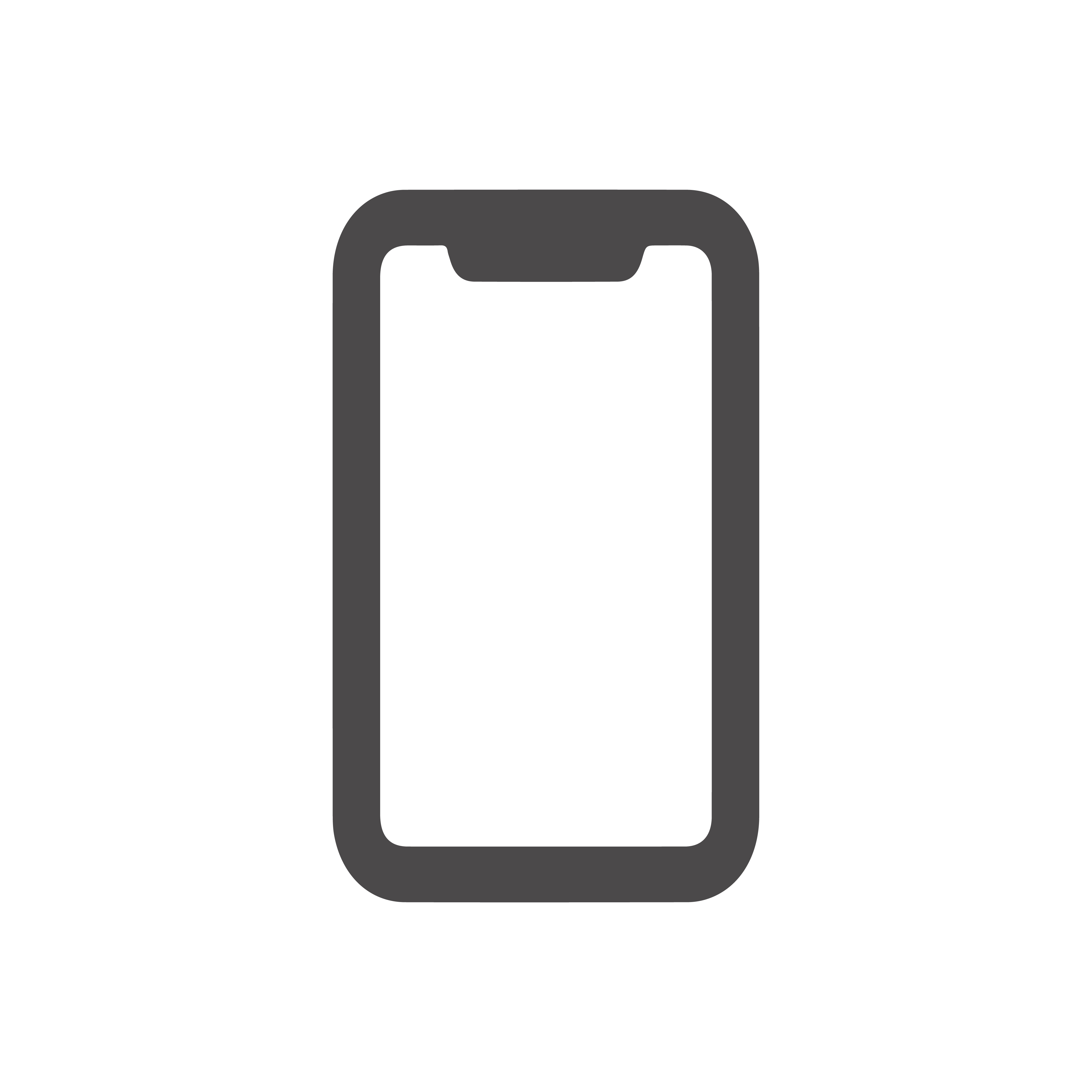 iphone outline icon