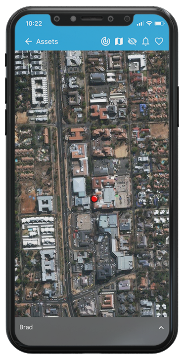 tg trackings vehicle tracking app displayed on mobile phone